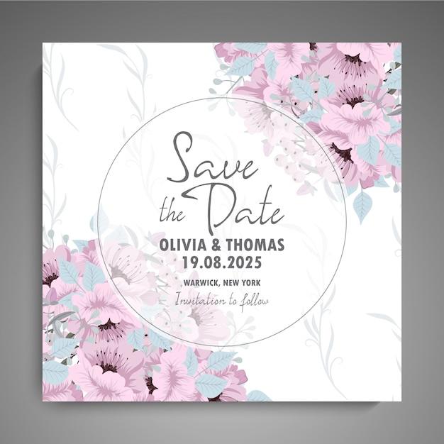 Convite de casamento Vetor grátis