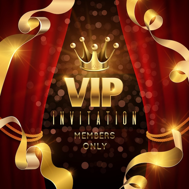 Convite de vetor de elegância e festa exclusiva Vetor Premium