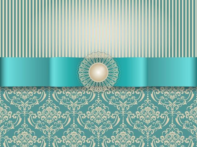 Convite do casamento e cartão do anúncio com arte finala do fundo do vintage Vetor grátis
