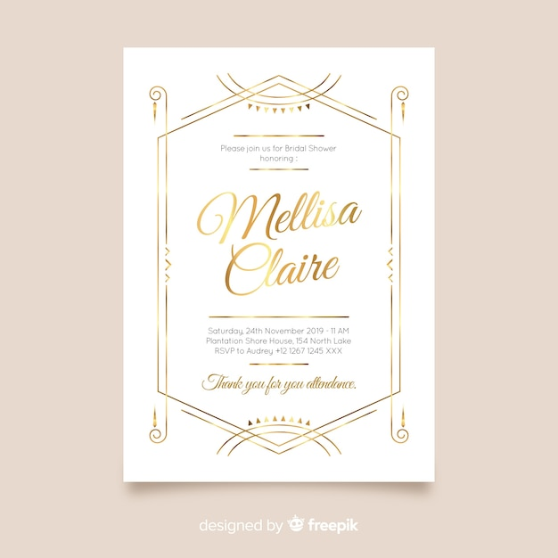 Convite do chá de panela Vetor grátis