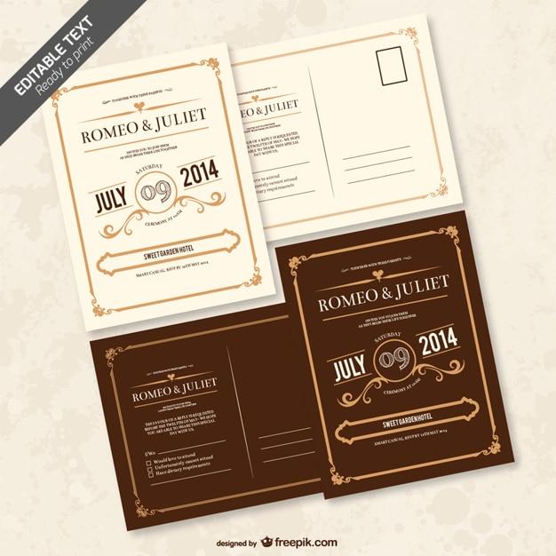 Convite Editável Casamento Baixar Vetores Grátis