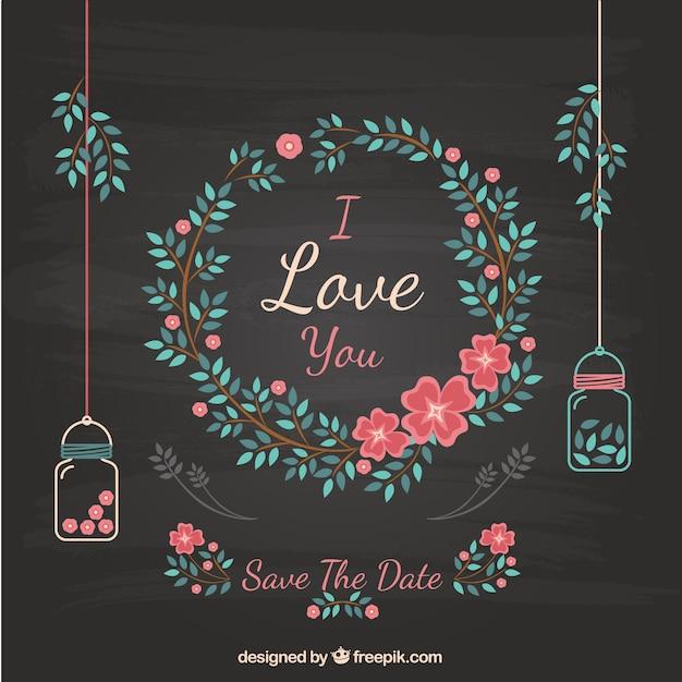 Convite floral do casamento no quadro negro baixar for Decoraciones para cevicherias