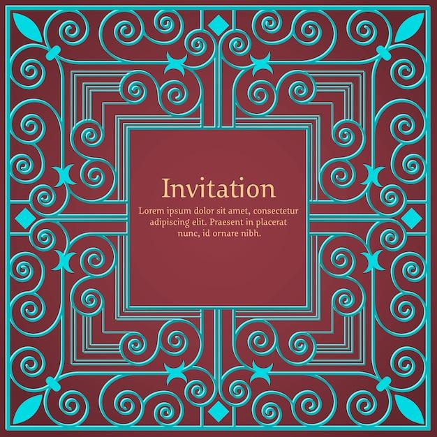 Convite ou cartão de casamento com fundo floral e elegantes elementos florais. Vetor grátis