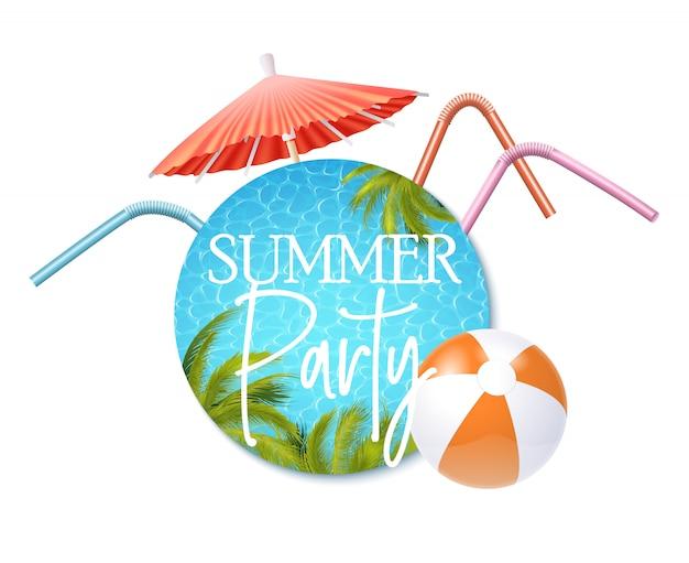 Convite para festa de verão Vetor Premium
