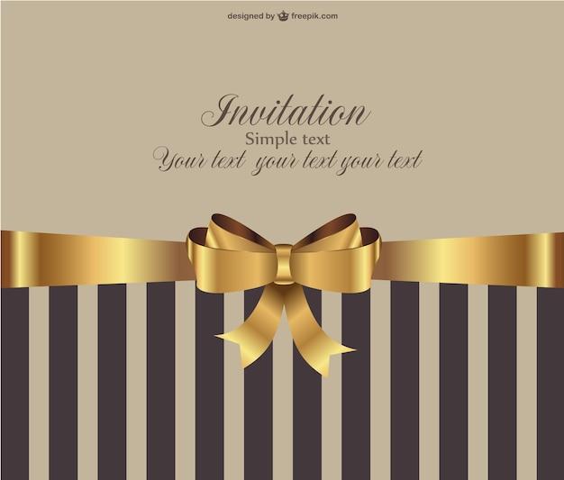 Convite Vetor Vintage Livre