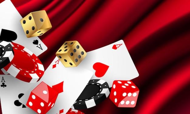 Convite vip de luxo de cassino com fundo de banner de jogo de festa de confraternização. Vetor Premium