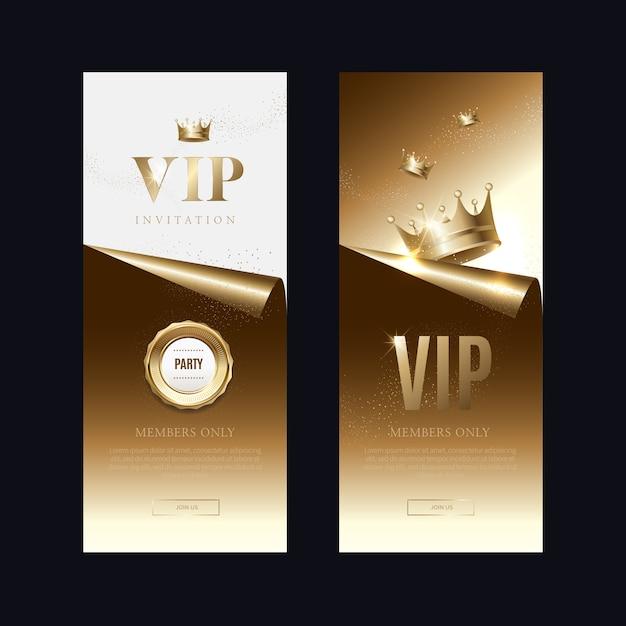 Convites de vip de luxo e fundos de cupom Vetor Premium