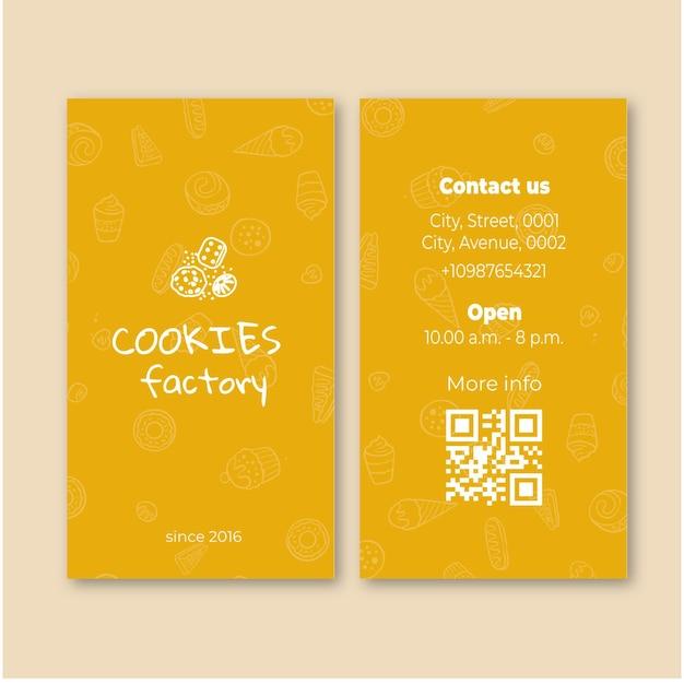 Cookies de cartão dupla face Vetor Premium