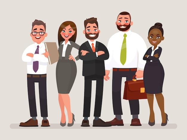 Cooperação internacional de empresas. Vetor Premium