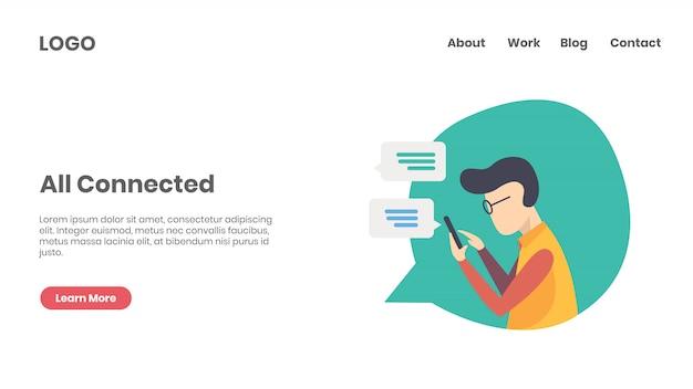 Coordenador de marketing de mídia social Vetor Premium