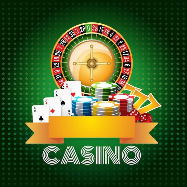 Cópia do cartaz do fundo do casino Vetor grátis