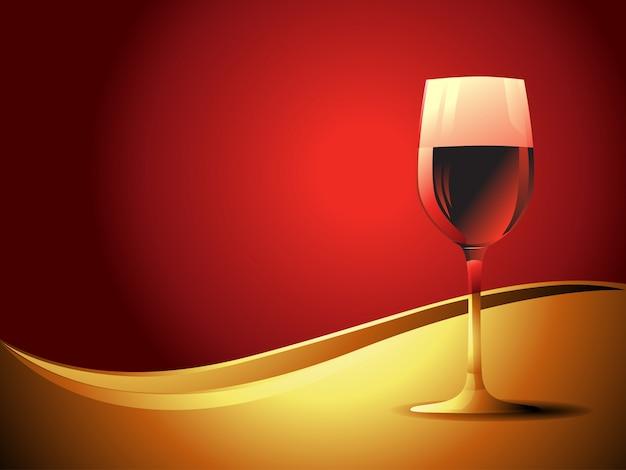 Copo De Bebida De Vinho No Fundo Do Vintage