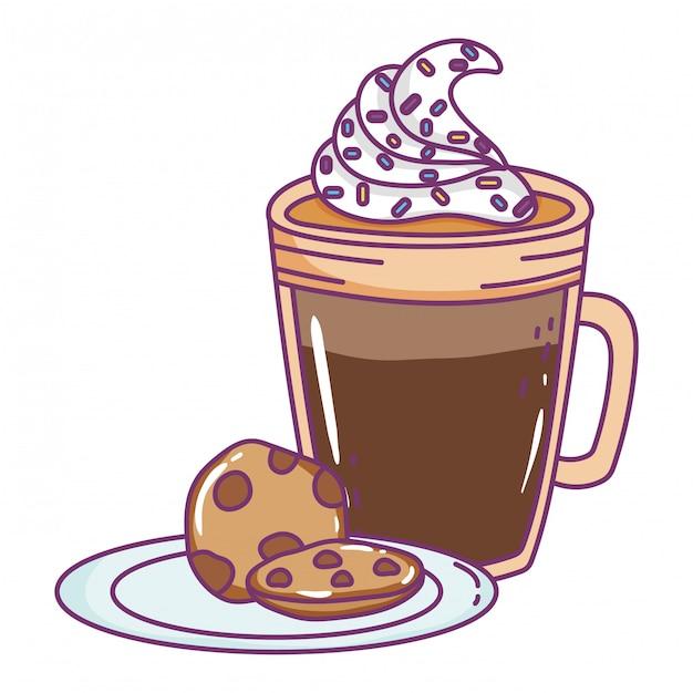 Copo de café gelado isolado Vetor Premium