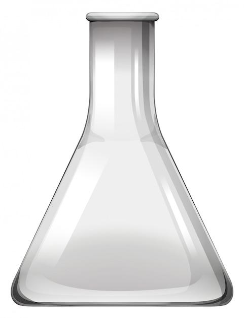 Copo de vidro vazio em branco Vetor grátis