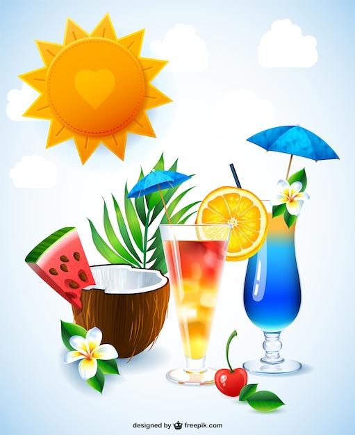 Coquetel de bebidas grátis ilustração Vetor grátis