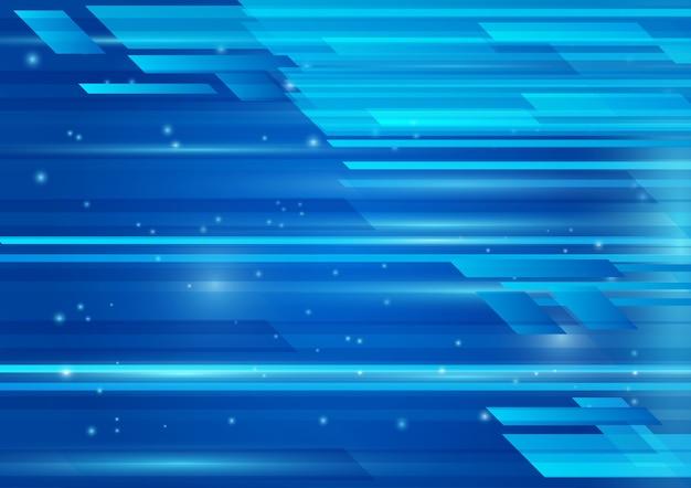 Cor azul geométrica e vetor abstrato luz de fundo Vetor Premium