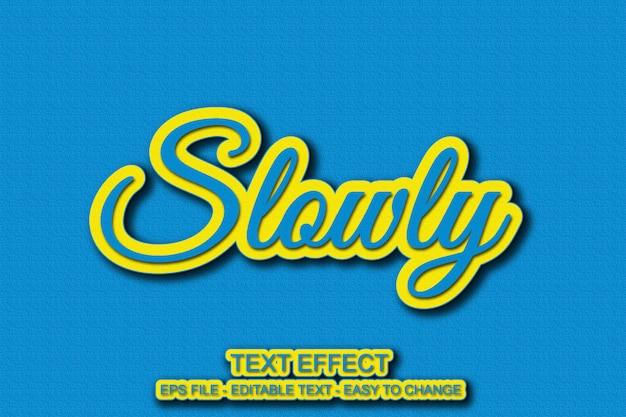 Cor de efeito de texto azul e amarelo Vetor Premium