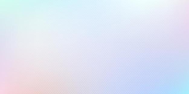 Cor de holograma moderna com design de efeito de meio-tom. abstrato luz azul pastel cor fundo desfocado. Vetor Premium
