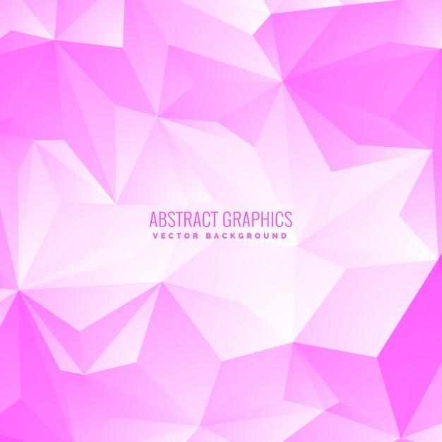 Cor-de-rosa suave low poly fundo abstrato Vetor grátis