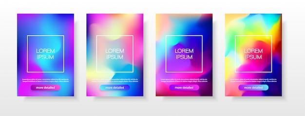 Cor gradiente de banners. Vetor Premium