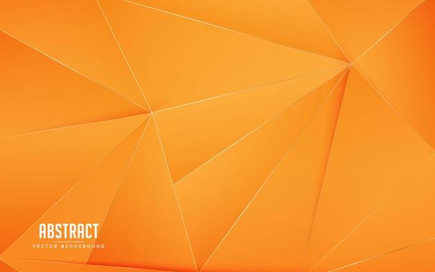 Cor laranja geométrica de fundo abstrato Vetor Premium