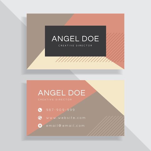 Cor Minimalista Simples Do Pastel Modelos Cartões De Visita