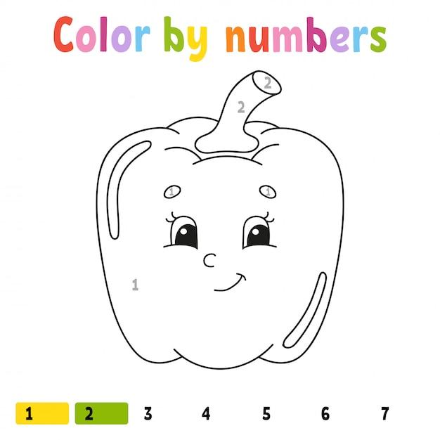 Cor Por Numeros Pimenta Livro De Colorir Para Criancas Carater