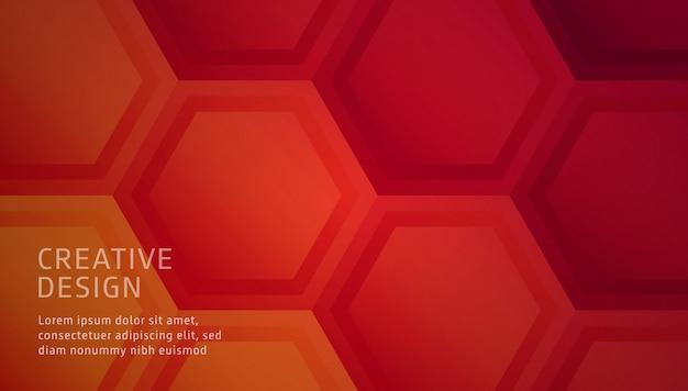 Cor quente de fundo abstrato poligonal Vetor Premium