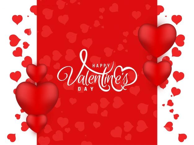 Cor vermelha feliz dia dos namorados fundo bonito Vetor grátis