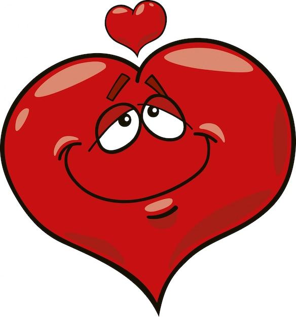 Coração apaixonado | Vetor Premium