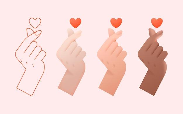 Coração de gradiente Vetor grátis