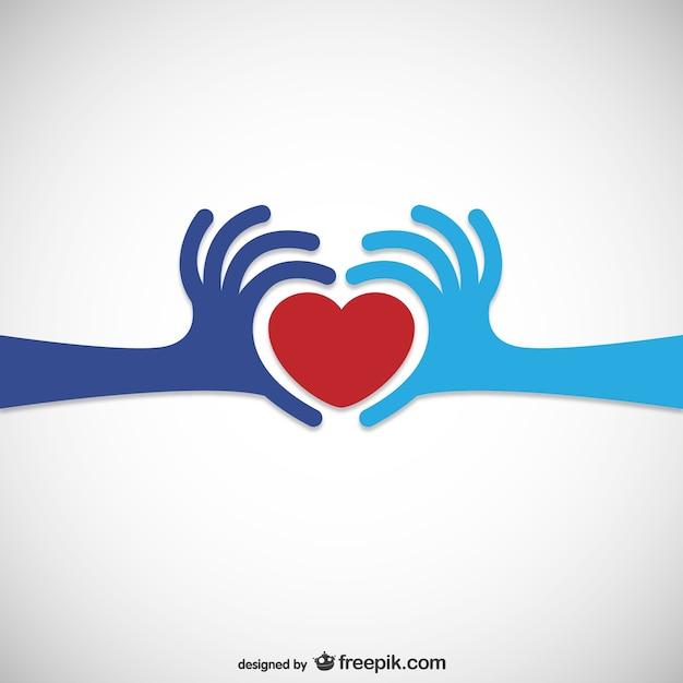 Coração doação logo Vetor grátis