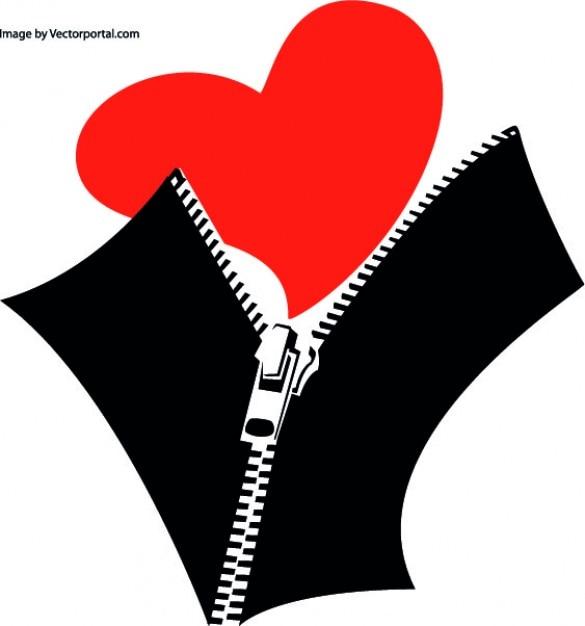 Coração fechado Vetor grátis