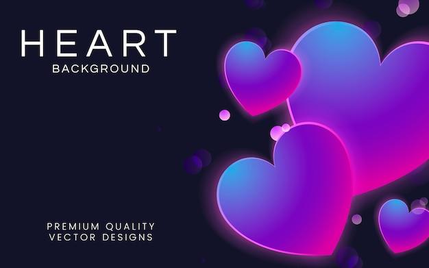 Coração, fundo, ilustração Vetor grátis