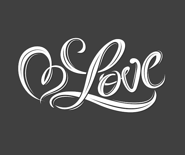 Coração por amor para o conceito de amor dia dos namorados e cartão de casamento. Vetor Premium