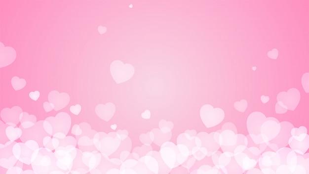 foto de Coração rosa fundo abstrato Baixar vetores Premium