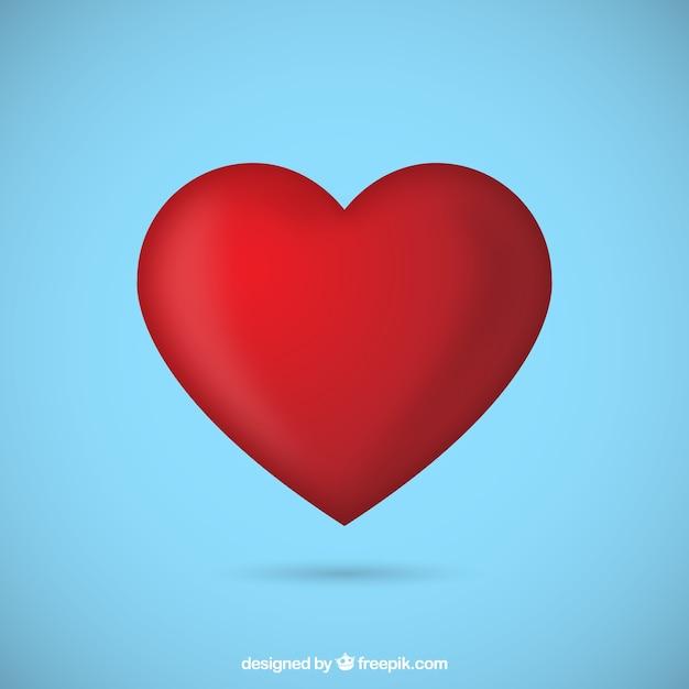 Coração vermelho Vetor grátis