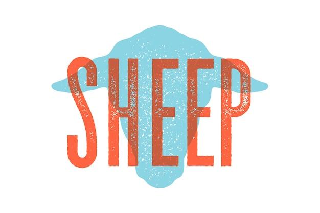 Cordeiro, ovelha Vetor Premium