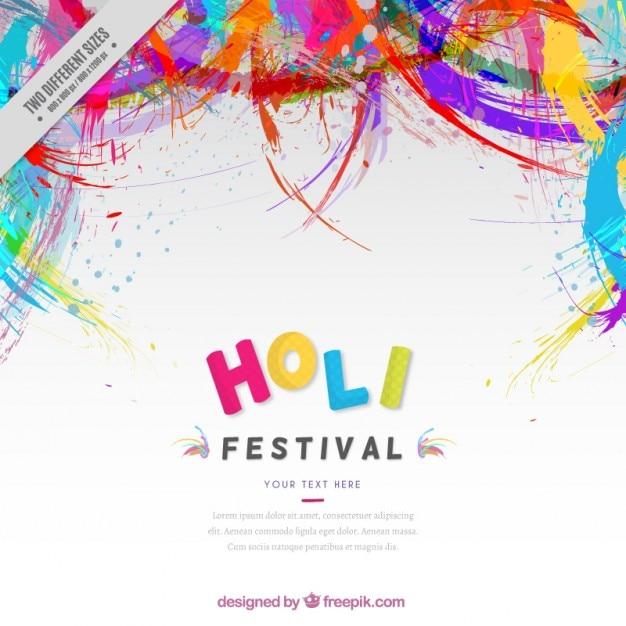 Cores abstrato holi festival fundo Vetor grátis