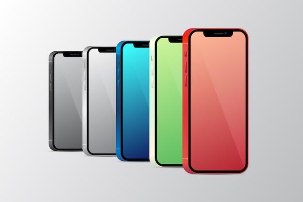 Cores oficiais realistas do smartphone Vetor grátis