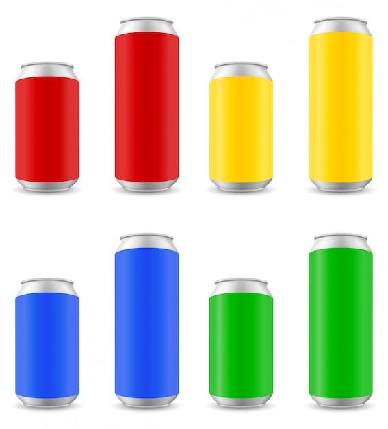 Cores podem de ilustração vetorial de cerveja Vetor Premium