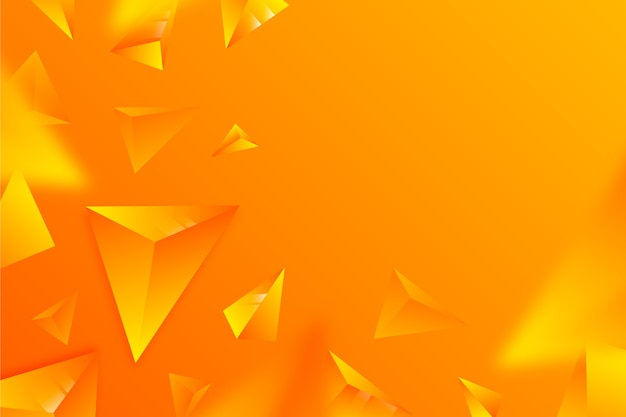 Cores vivas triângulos 3d fundo Vetor grátis