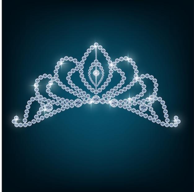Coroa com conceitos de diamantes Vetor Premium