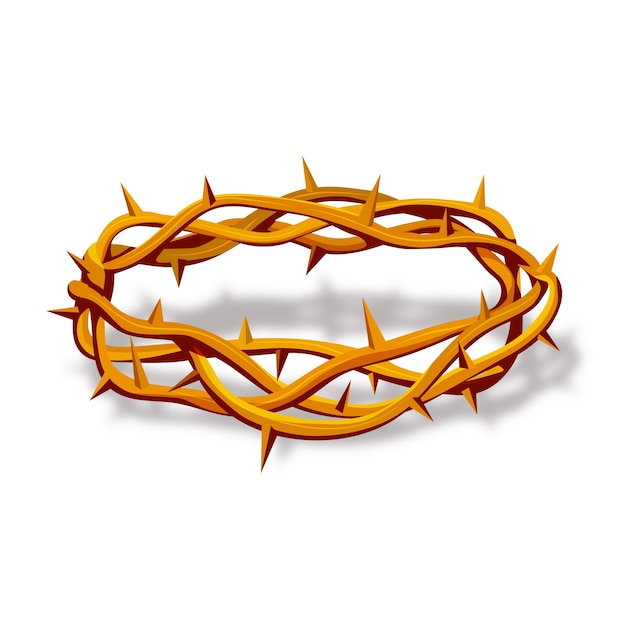 Coroa de espinhos realista Vetor grátis