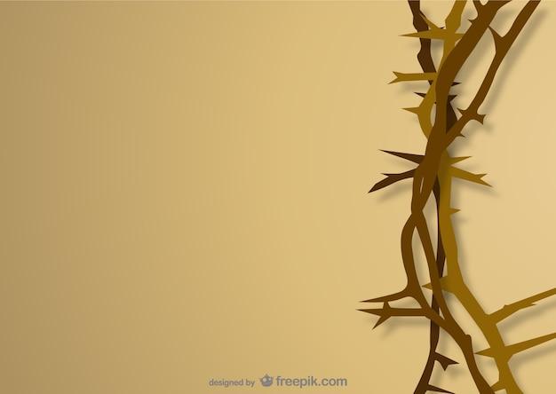 Coroa de espinhos Vetor grátis