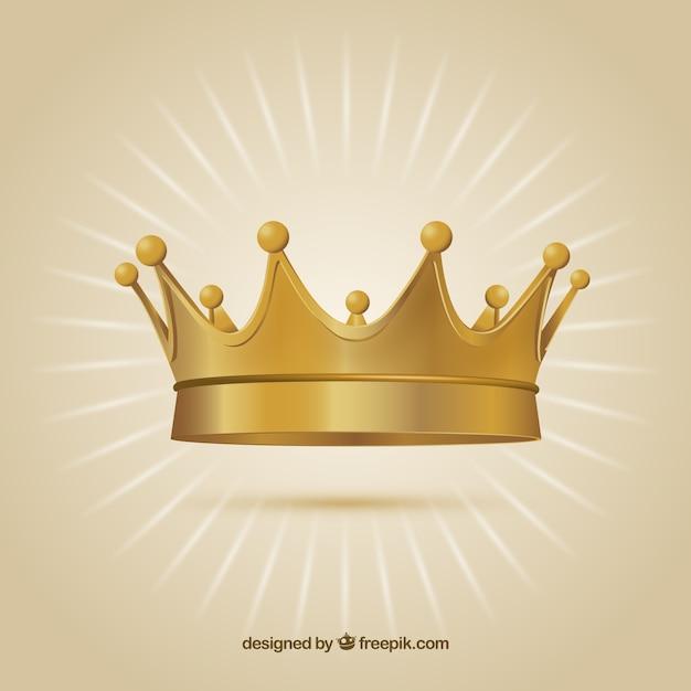 Coroa de ouro Vetor grátis