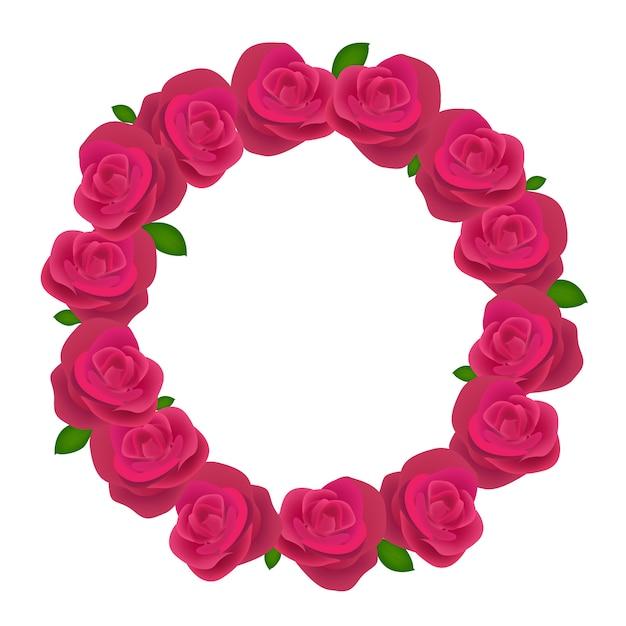 Coroa de rosas Vetor Premium