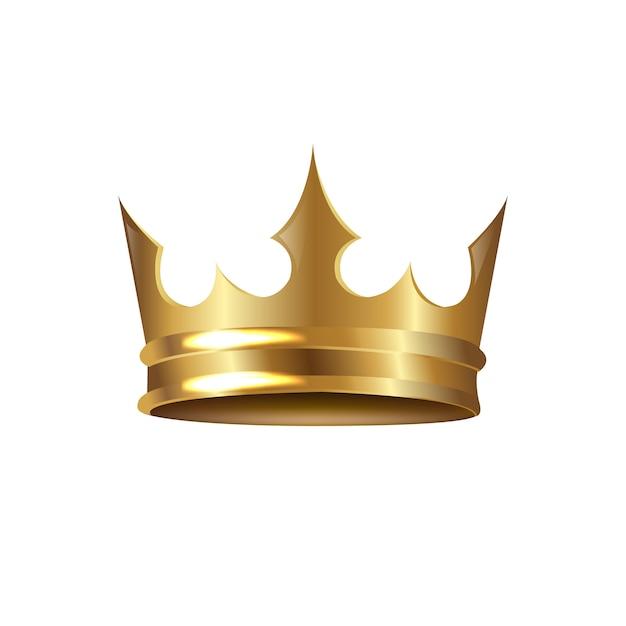 Coroa dourada Vetor Premium