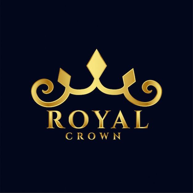 Coroa real logotipo conceito premium ícone do design Vetor grátis