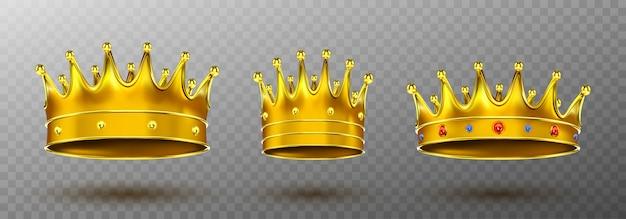Coroas de ouro Vetor grátis